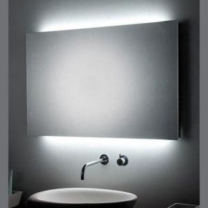 Specchio a LED su MISURA con doppia illuminazione orizzontale posteriore