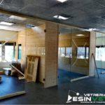 Divisori per uffici con porte temperate Dorica Legnami (AN)