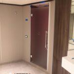 Box doccia della Silvermoon di Silversea Fincantieri