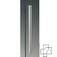 Maniglione in alluminio 19x16mm