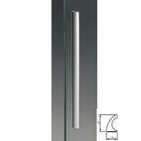 Maniglione in alluminio vela 21mm