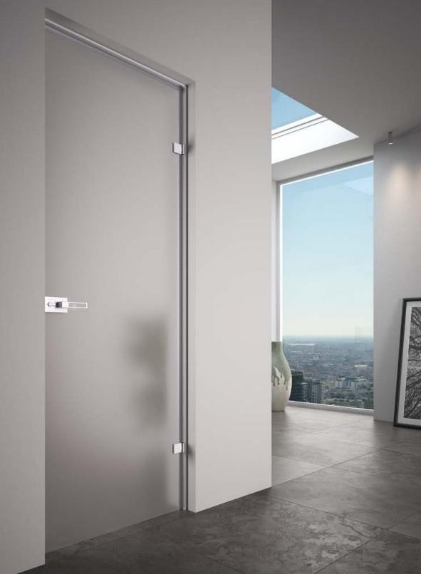 porta in vetro battente   arredare in trasparenza   vetreria esinvetro jesi