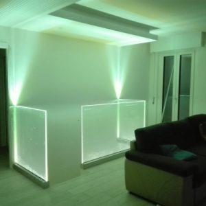 Parapetti interni con illuminazione a Led (accesi)