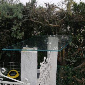 pensilina in vetro extrachiaro | vetreria Esinvetro Jesi