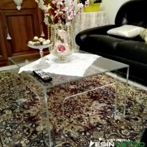 Tavolo da fumo in vetro Extrachiaro | vetreria Esinvetro Jesi