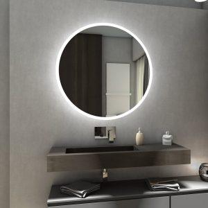 specchio a led rotondo